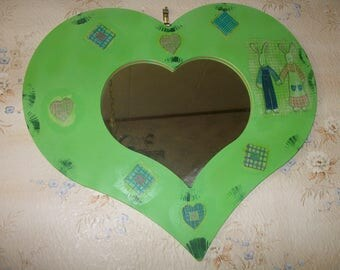 Heart mirror for child's room