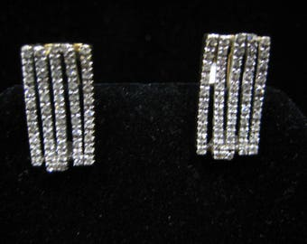 Diamond Earrings in 14k Two Tone Gold