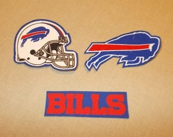 Appliques - NFL - Buffalo Bills - Sew on or No Sew