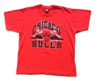 Vintage Chicago Bulls Screen Stars Short sleeve T Shirt size men's XL 50 - 50 Cotton / Polyester Crewneck 90's Tee