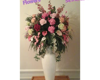 Foyer arrangement etsy for Foyer flower arrangement