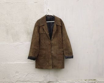 Cowboy Suede Leather Riding Jacket
