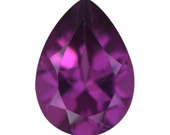 Purple Garnet Pear Cut Loose Gemstone 1A Quality 7x5mm TGW 0.70 cts.