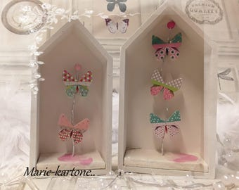 Butterfly No. 1 set of 2 houses home & butterflies