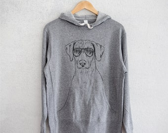 Ronan the Rhodesian Ridgeback - Grey French Terry - Unisex Slim Fit - Dog Lover, Gifts for Dog Owner