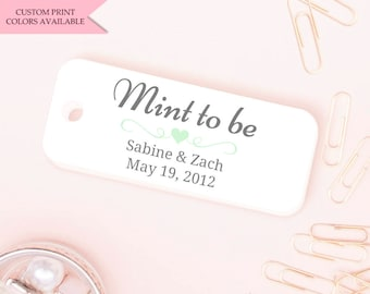 Mint to be tags (30) - Mint to be wedding favor - Wedding favor tags - Wedding gift tags - Wedding tags