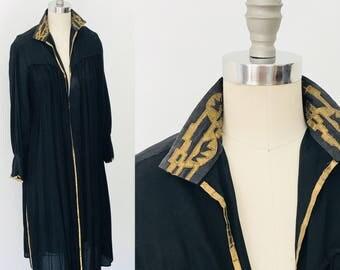 Extrodinary Antique Edwardian Gilded Silk Accordian Pleat Jacket l M