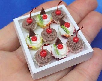 MidYear Sale15% Miniature Cupcake 10 pcs.,Miniature Cake,Miniature Bakery,Miniature Sweet,Dollhouse cake,miniature Fruit Cake,Dollhouse Swee