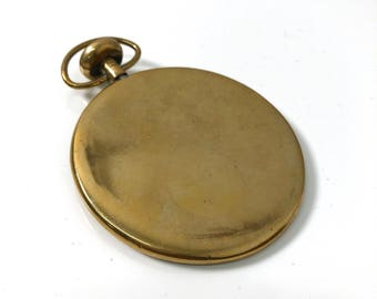 Vintage Brass Pocket Watch Paperweight, Carl Aubock attr. 1950's
