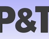 Custom listing for Tricia Earnest. 8 inch P&T individual letters.