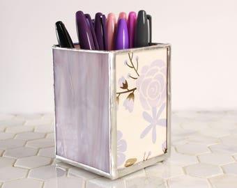 Desk Pen Holder, Floral Pen Organization, Pen Pencil Holder, Pencil Storage, Office Organizer, Modern Office Decor, Office Desk Decor