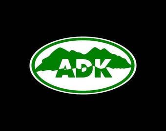 Adirondack Mountains Decal Sticker ADK Mountains Upstate New York Car Decal