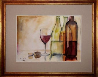 REFLECTIONS of light, still life watercolor