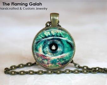 BOHO EYE Pendant •  All Seeing Eye •  Boho Chic • Gift Under 20 • Made in Australia (P1372)