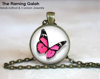 BUTTERFLY Pendant • Pink Butterfly • Beautiful Butterfly • Butterfly Art • Gift Under 20 • Made in Australia (P1461)