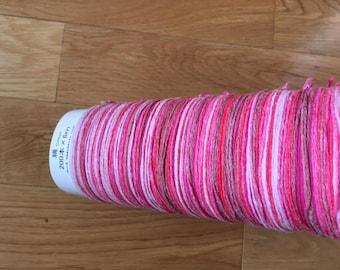 SAORI- NEW- Pink Cotton Warp 200 x 6