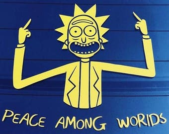 Rick and Morty // Rick and Morty Decal // Peace Among Worlds // Vinyl // Sticker // Portal Gun // Pickle Rick Decal // Mr Meeseeks Decal