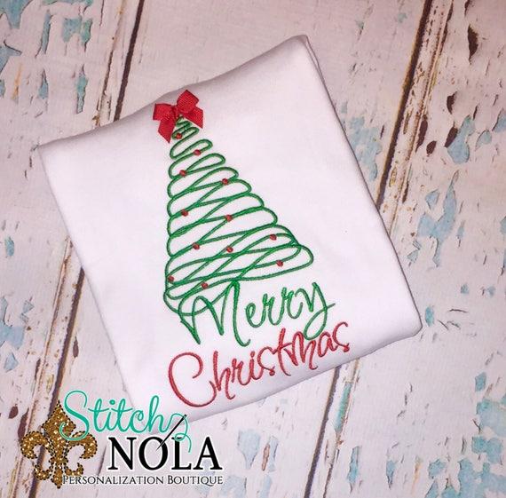 Merry Christmas Tree, Christmas shirt, first Christmas T-Shirt, Romper or Bodysuit