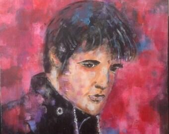 Painting Elvis Presley