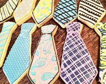 Father's day cookies - Tie/bow tie decorated sugar cookies - Father's Day cookies - gifts for guys - husband gift-
