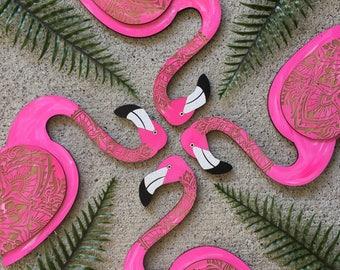 Flamingo Wooden Wall Art