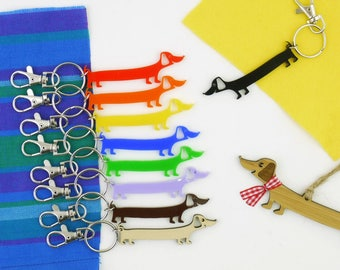 Dachshund Keyring, Keychain or Bag Charm - whatever pawsome colour you like - Doxie, Sausage Dog, Weiner keyring