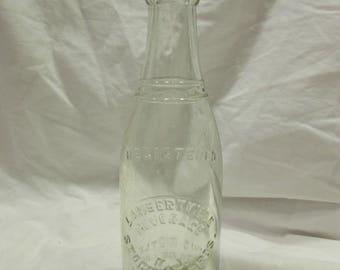 Soda Pop Bottle, Lambertville Beverage of N.J., Stockton Bros. Clear Glass, 7 oz., Marked 1930
