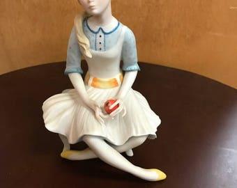 Vintage Cybis Pollyanna Porcelain Figurine