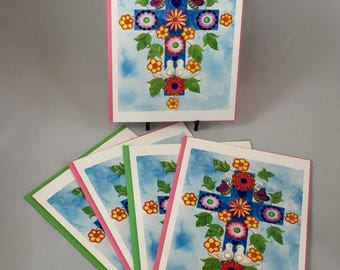 "5 Blank cards 5"" X 7"" with envelopes -  ""Adeline's Cross"""