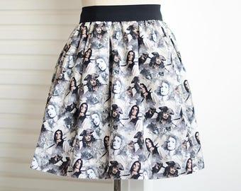 Pirates of the caribbean skirt,prom skirt,skater skirt,women skirt,dead man's chest,pirates skirt
