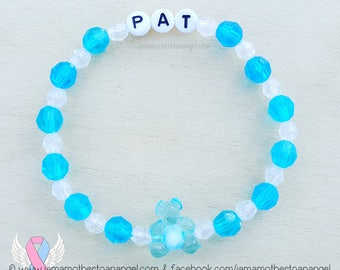 Teddy Bear - Personalized Handmade Bracelet - BLUE
