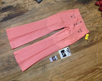 """70s LEVIS for Gals Hippie Stripe Bells sz 29""""W x 32""""L in Excell. Cond."""