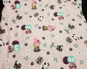 A cute outdoor critter pillowcase