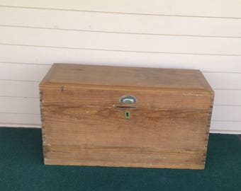 Pine Box - Dovetailed - Antique - Coffee Table - End Table