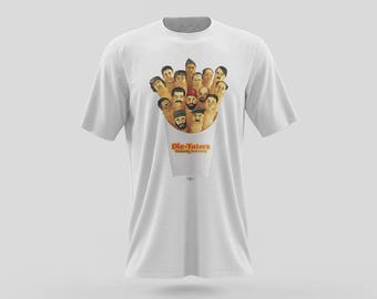 Dic-Taters T-Shirt of The Violently Delicious Fries as dictators. Donald Trump, Adolf Hitler, Fidel Castro, Stalin, and much more.