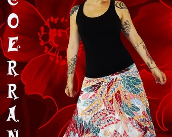 Harem pants in stretch mesh 'nature Red'...