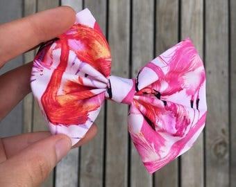 Watercolour Flamingo Bow