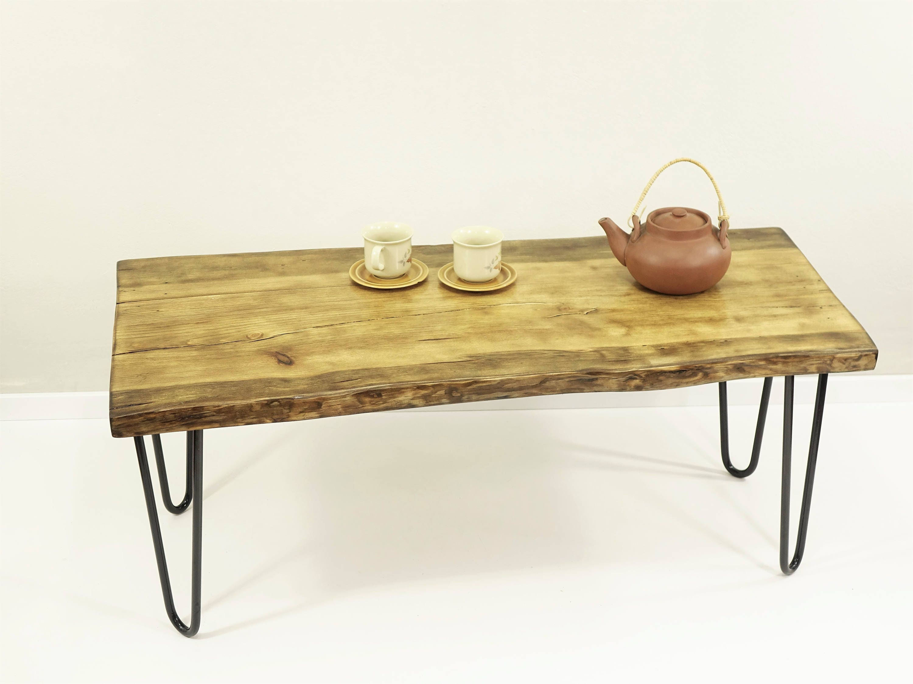 live edge coffee table dining bench hairpin coffee table slab