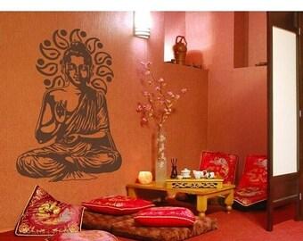 20% OFF Summer Sale Buddha wall decal, sticker, mural, vinyl wall art