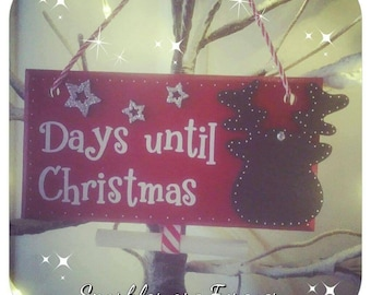 Days until Christmas Countdown sign