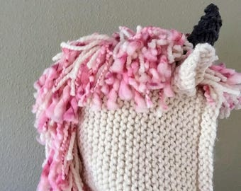 Knit Unicorn Hooded Scarf