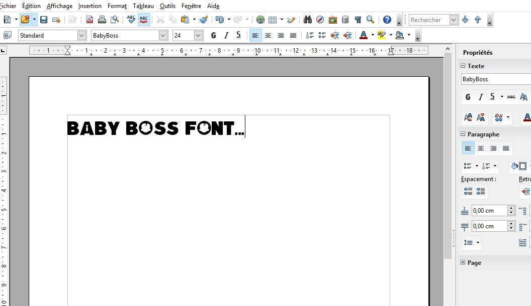 Boss Baby font ttf instant download and install