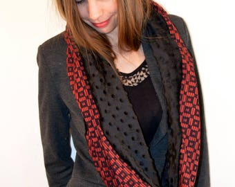 red and black snood 11