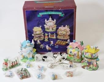 Easter Celebrations Light Up Easter Village - in Original Box