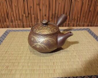 Japanese Tokoname Pottery Kyusu Clay Teapot