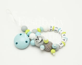 """Pacifier clip personalized silicone beads - model """"Maxim"""""""