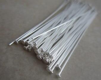 50 sterling silver filled headpins 1.5 inch 24 gauge