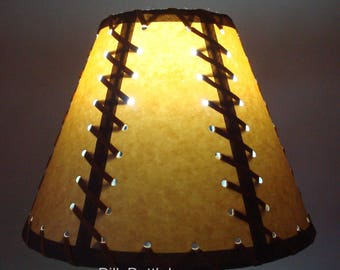 Rustic lamp shade etsy double laced lamp shade rustic cottage table light lamp shade oil kraft clip on mozeypictures Image collections
