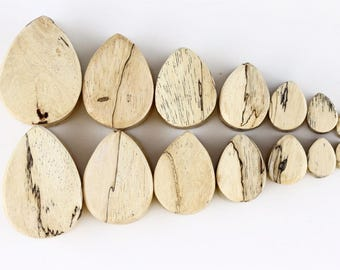 Shaped Plugs - Teardrop Tamarind Wood Plugs - Shaped plugs for stretched ears - PA49