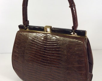 Vintage Belleston brown leather bag
